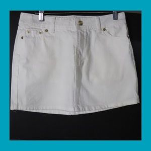 Coach Denim White Mini-Skirt